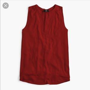 JCrew Tall XL sleeveless open V Neck Top!!